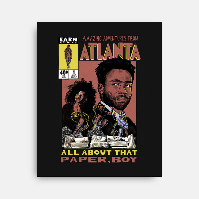 Amazing Adventures from Atlanta-none stretched canvas-pennytees