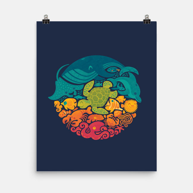 Aquatic Rainbow-none matte poster-Waynem