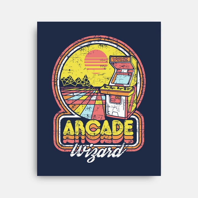 Arcade Wizardry-none stretched canvas-artlahdesigns