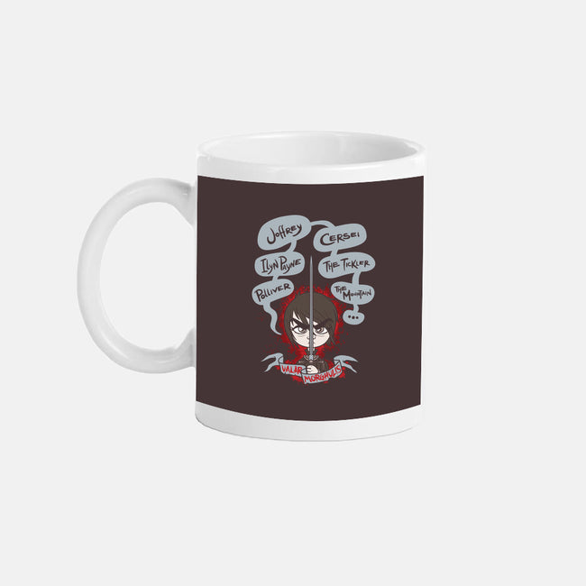 Arya's Death List-none glossy mug-Italiux
