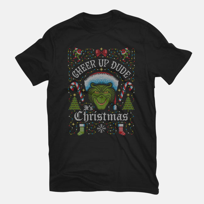 Cheer Up Dude, It's Christmas-mens heavyweight tee-stationjack