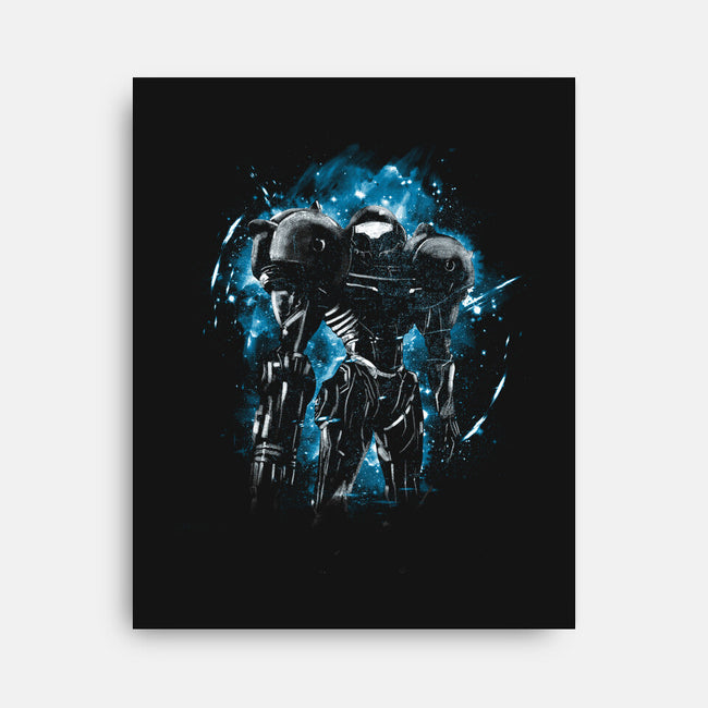 Galactic Bounty Hunter-none stretched canvas-kharmazero
