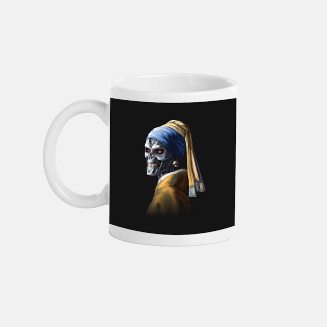 Machine with a Pearl Earring-none glossy mug-daobiwan