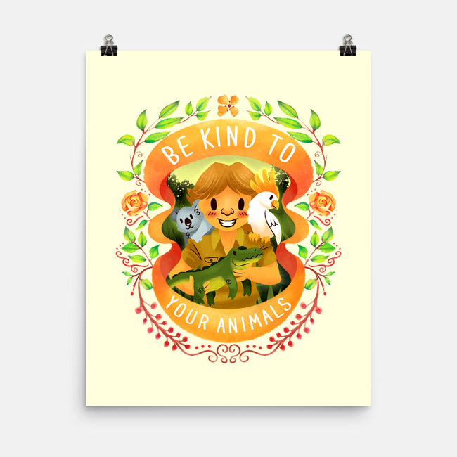 Be Kind to Your Animals-none matte poster-starsalts