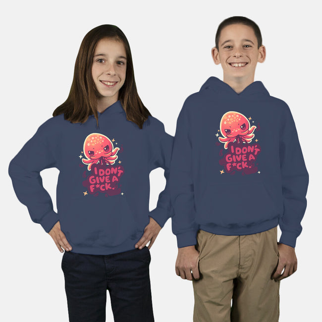 Octopus Doesn't Care-youth pullover sweatshirt-Geekydog