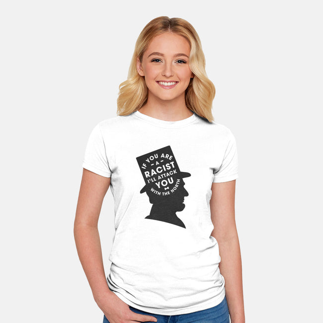 I Will Attack You With The North-womens fitted tee-dpodeszek