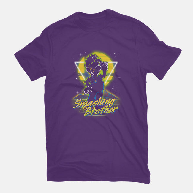 Retro Smashing Brother-mens basic tee-Olipop