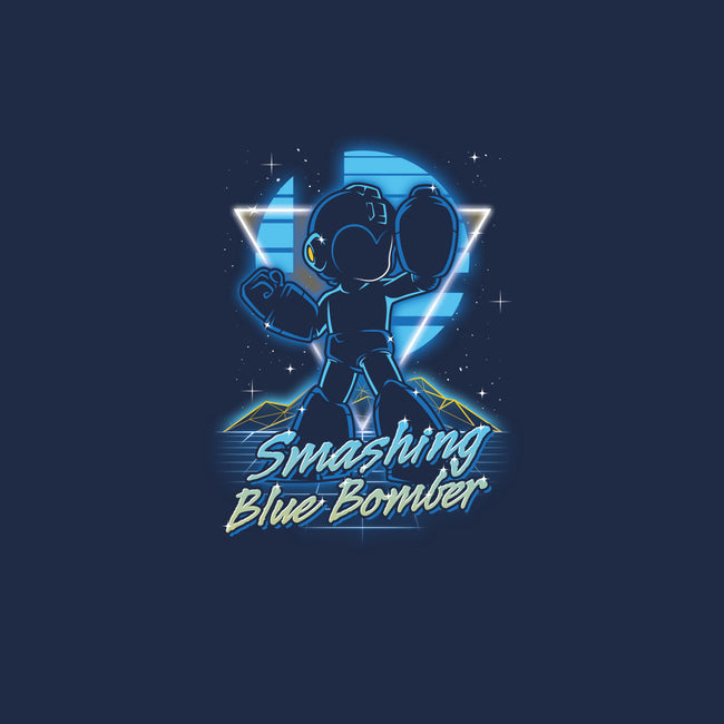 Retro Smashing Blue Bomber-mens basic tee-Olipop