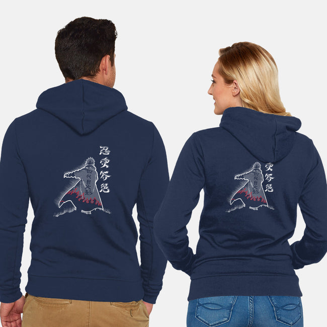 Fourth Hokage Enters-unisex zip-up sweatshirt-constantine2454