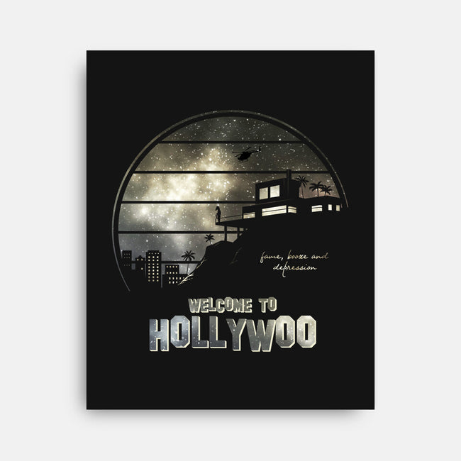 Welcome To Hollywoo-none stretched canvas-ducfrench