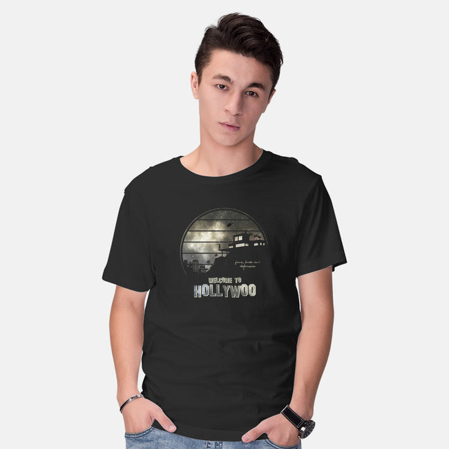 Welcome To Hollywoo-mens basic tee-ducfrench