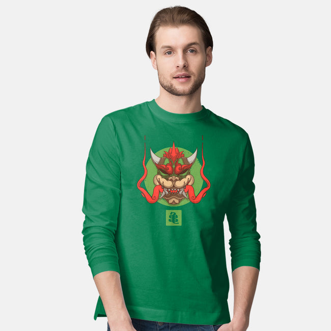 Oni King Koopa-mens long sleeved tee-theteenosaur