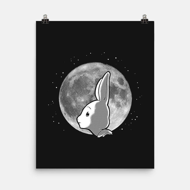 Full Moon, Half Moon-none matte poster-DCLawrence