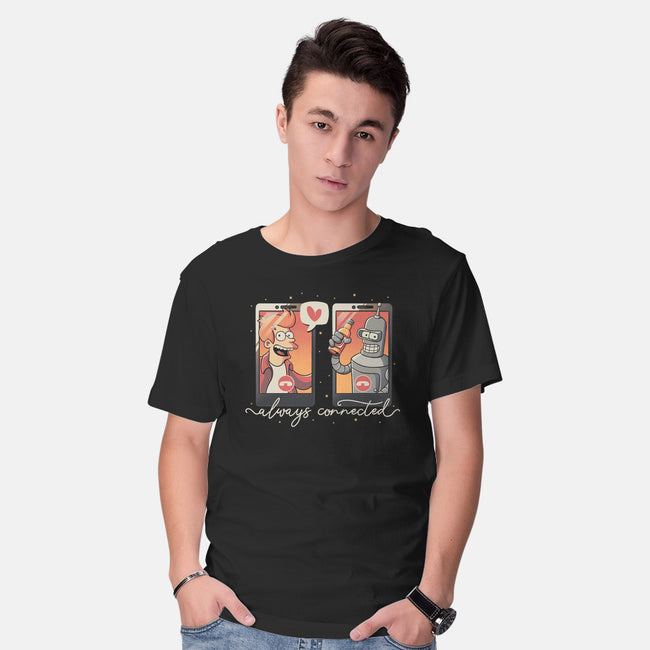 Best Friend Connection-mens basic tee-eduely