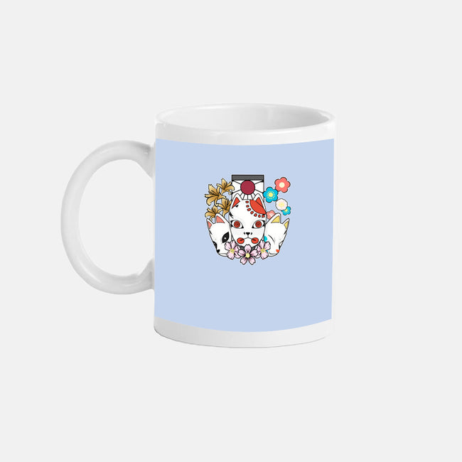 Kitsune Team-none glossy mug-neokawaii