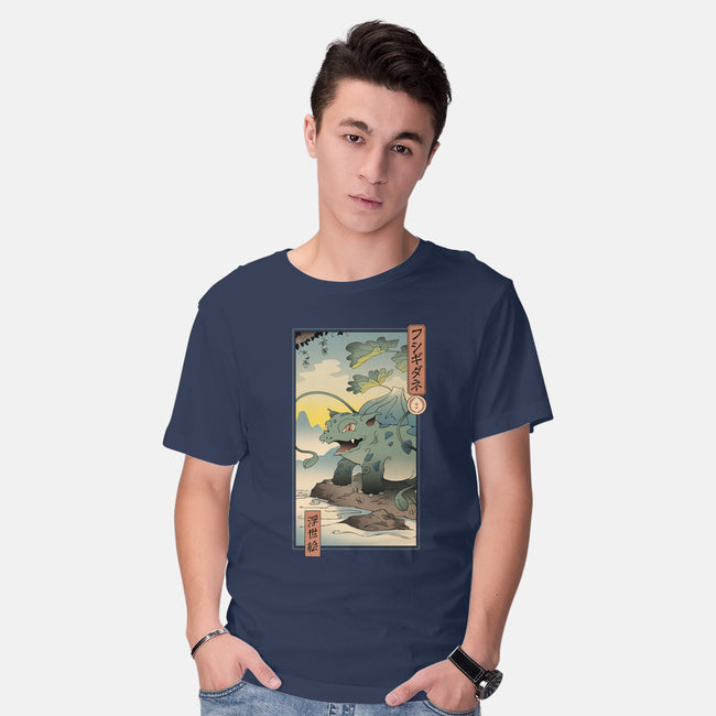 Grass Monster Ukiyo-E-mens basic tee-vp021