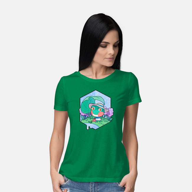 Water Lily-womens basic tee-identitypollution