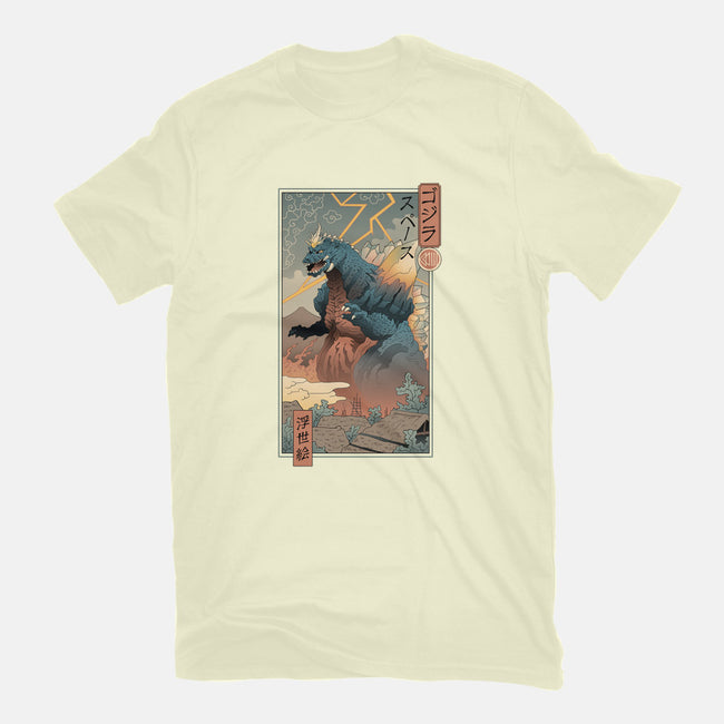 Space Kaiju Ukiyo-E-mens basic tee-vp021