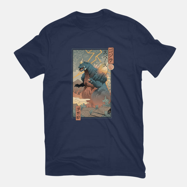 Space Kaiju Ukiyo-E-youth basic tee-vp021