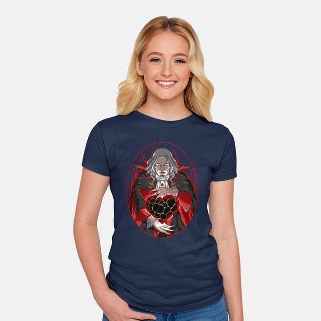 A Heart of Darkness-womens fitted tee-manoystee