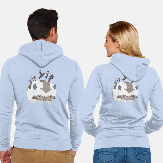 Let's Fly-unisex zip-up sweatshirt-StinkPad