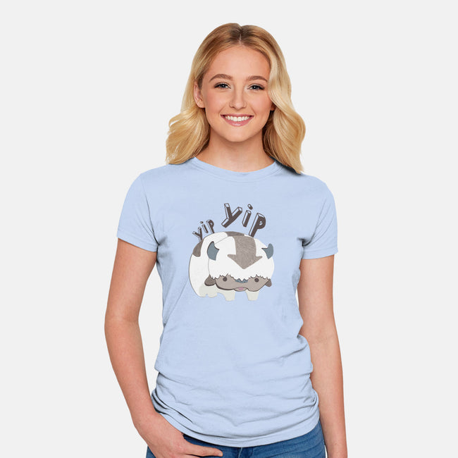 Let's Fly-womens fitted tee-StinkPad