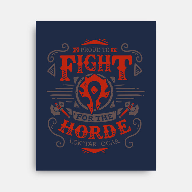 Fight for the Horde-none stretched canvas-Typhoonic
