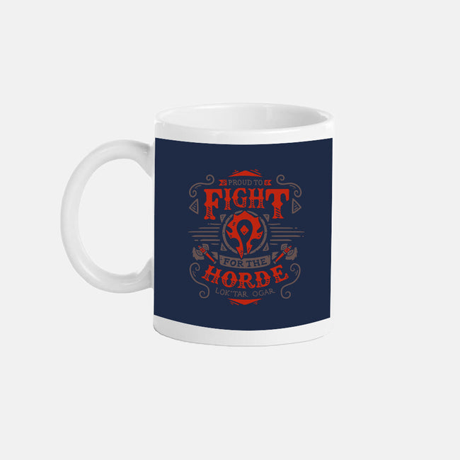 Fight for the Horde-none glossy mug-Typhoonic