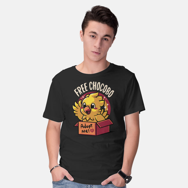 Adopt a Chocobo-mens basic tee-Typhoonic