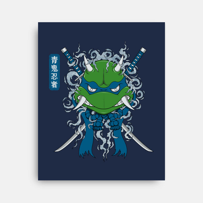 Blue Ninja-none stretched canvas-pigboom