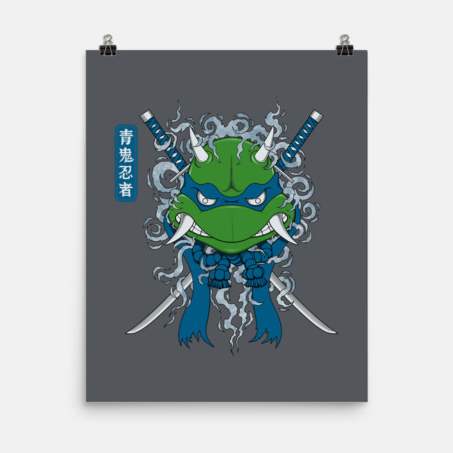 Blue Ninja-none matte poster-pigboom