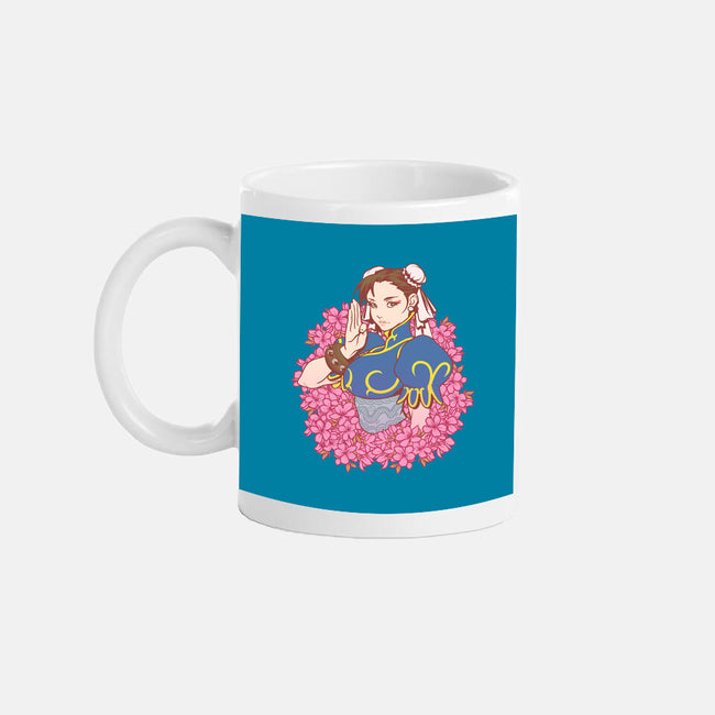 Flower Fighter-none glossy mug-lucassilva