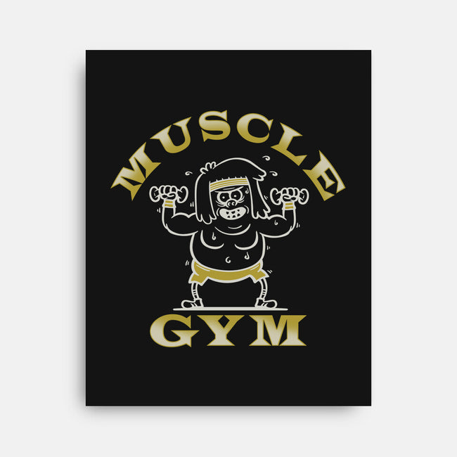 Muscle Gym-none stretched canvas-CoD Designs
