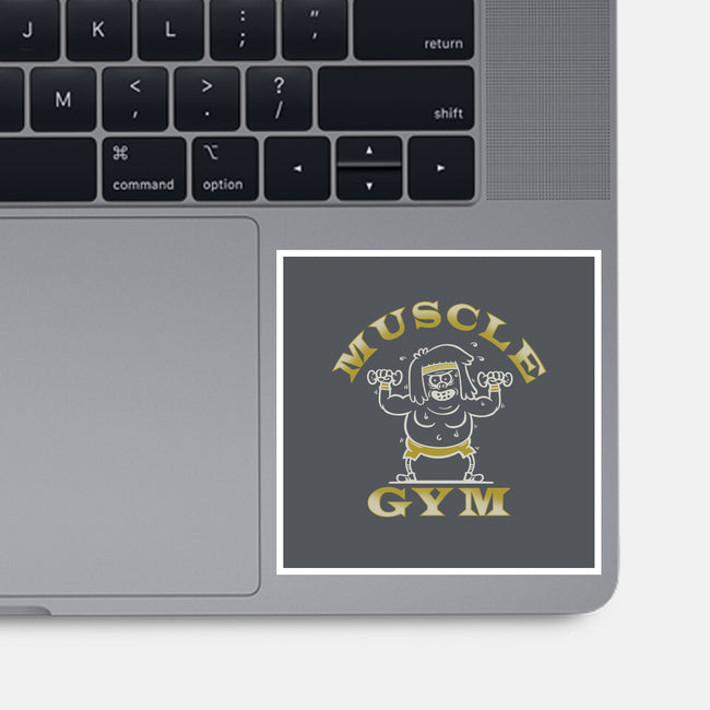 Muscle Gym-none glossy sticker-CoD Designs