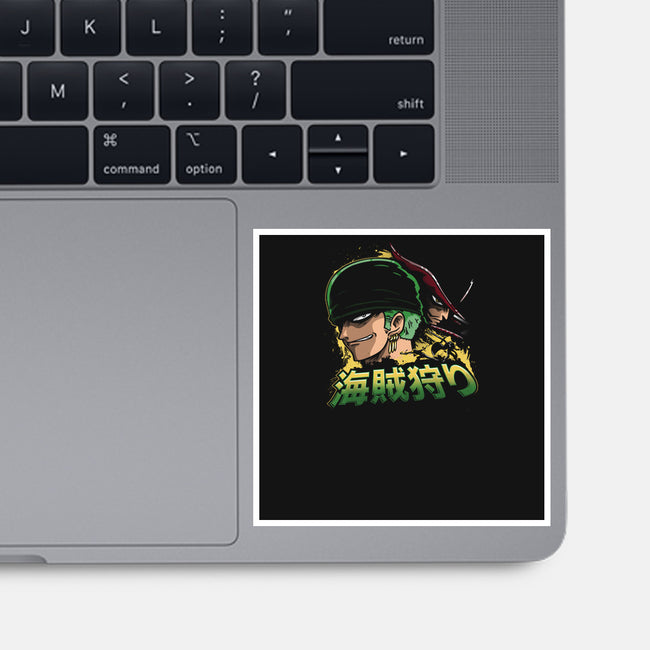 Green Hunter-none glossy sticker-CoD Designs