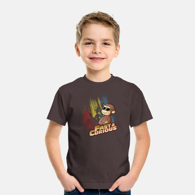 Fast and Curious-youth basic tee-Skullpy