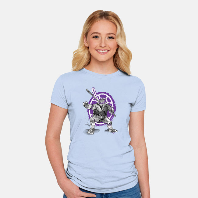 Don Sumi-e-womens fitted tee-DrMonekers