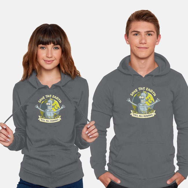 Bender Earth-unisex pullover sweatshirt-ducfrench