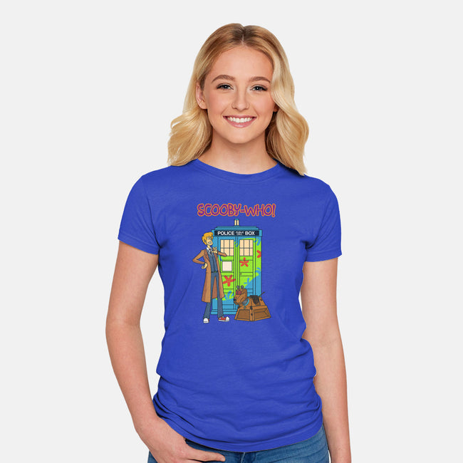 Scooby Who-womens fitted tee-MoonlitEnvy
