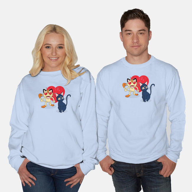 Cat Match-unisex crew neck sweatshirt-nathanielf