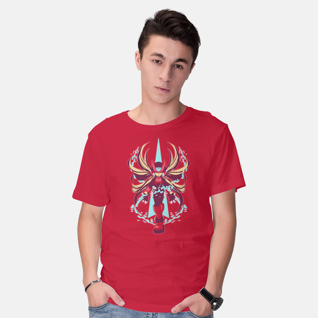 The Red Hero-mens basic tee-DoubleZero
