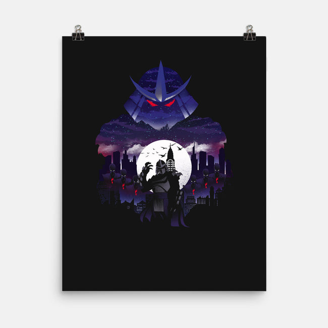 Supervillain Night-none matte poster-dandingeroz