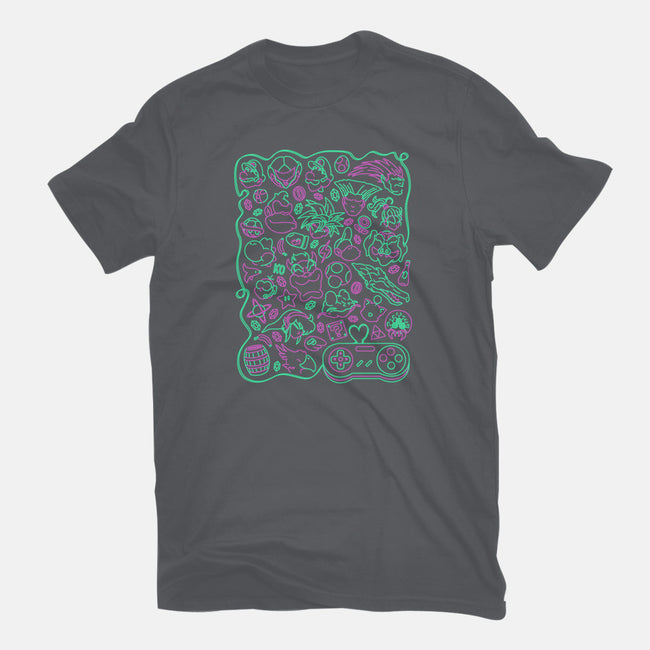 Retro Game Love-womens basic tee-CoD Designs