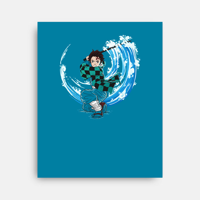 Water Slayer-none stretched canvas-TeeTowR