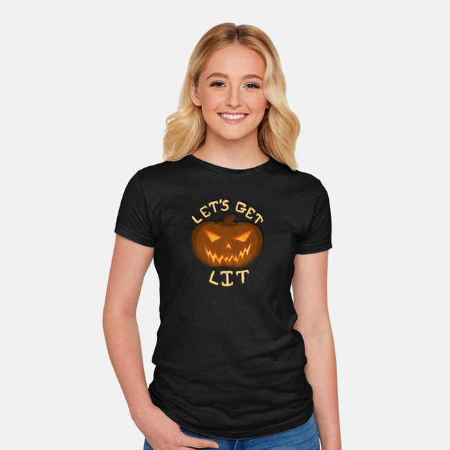 Let's Get Lit-womens fitted tee-Todd's Hollow