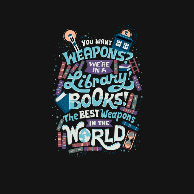 Books are the Best Weapons-womens fitted tee-risarodil