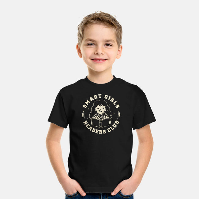 Smart Girls Readers Club-youth basic tee-eduely