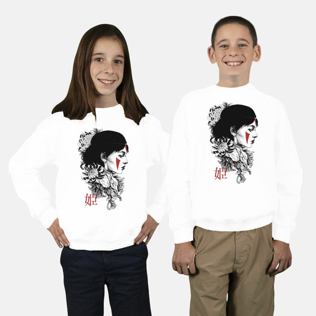 Princess-youth crew neck sweatshirt-Hafaell