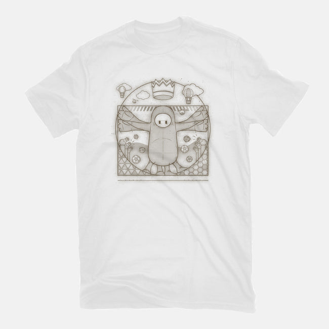Vitruvian Guy-womens fitted tee-Getsousa!