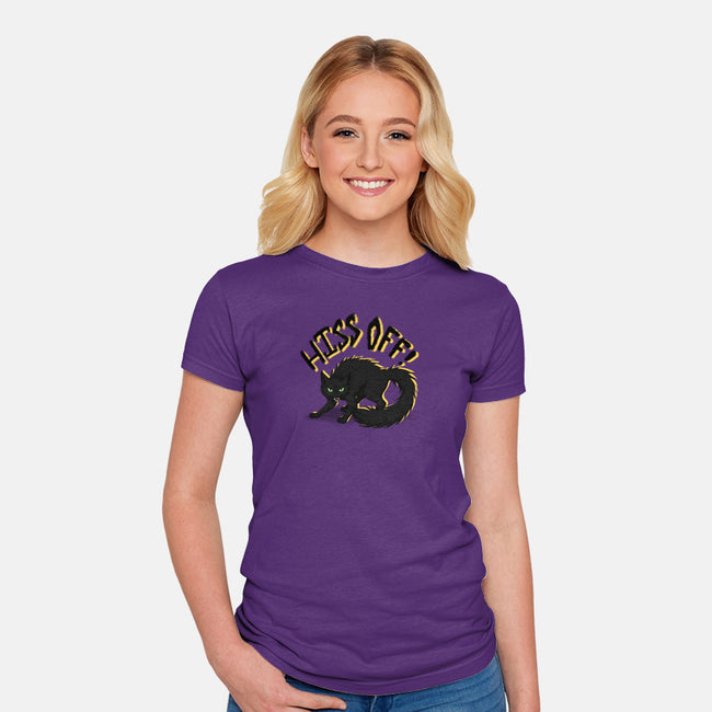 Hiss Off-womens fitted tee-Todd's Hollow